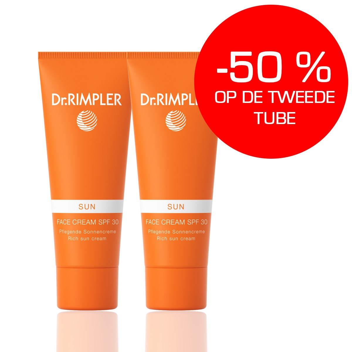 DR RIMPLER SUN FACE SPF30 DUO PACK 2x75ml