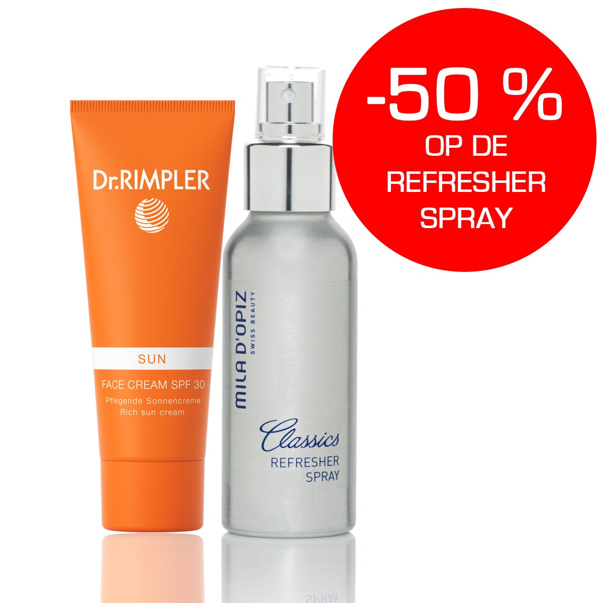 DR RIMPLER FACE SPF30 200ml + REFRESHER SPRAY 100ml